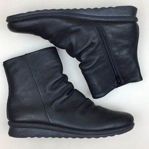 The FLEXX Black Leather Scrunch Boots